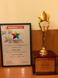 Bureaucracy Today CSR Excellence Award 2016 to Uflex for 'Promotion of Sports'