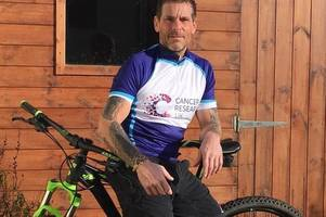 the brother of stereophonics frontman kelly jones has raised more than £6,500 for charity with a gruelling bike ride