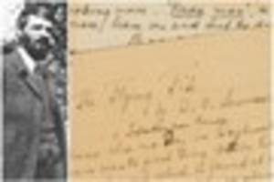 University of Nottingham acquires original unfinished DH Lawrence...
