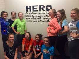 girl scouts honor new lenox police department