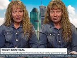 identical twins who say they never spend a moment apart speak in unison for an entire four-minute interview