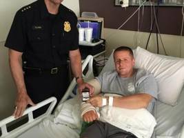 Officer Shot Multiple Times is Recovering in Hospital; Man Who Shot Him Has Violent Past