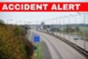 Two-vehicle crash at Barnetby Top