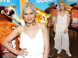 jessie j sizzles in sheer trousers and skimpy top co-ord at ice age screening... after admitting 'it feels good' to be leaving the voice so she can make new music