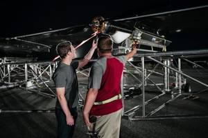 facebook's giant, internet-beaming drone took its first test flight — and it was a major success