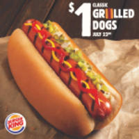 burger king® restaurants launch $1 classic grilled dogs promotion for national hot dog day