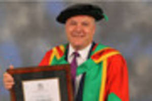 former shadow chancellor ed balls receives honorary degree from...