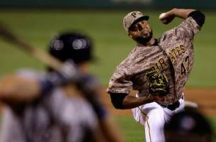 pirates strike early, liriano strong in 5-3 win over brewers