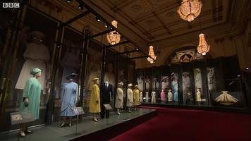 the queen's wedding dress goes on display