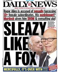 new york daily news celebrates ailes ouster with 'sleazy' provocative cover