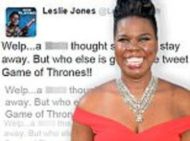 Leslie Jones returns to Twitter just 3 days after quitting due to racist abuse