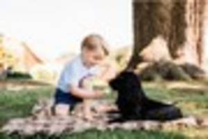 Prince George - adorable new photos released to mark third...