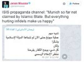 'everything hurting infidels makes us happy': isis celebrates the murders of innocent children on twitter just hours after munich massacre