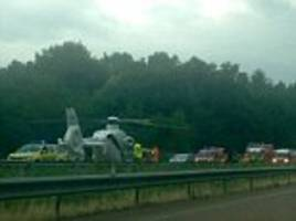three teenagers fighting for their lives and 10 injured as a bus carrying welsh holidaymakers tips over on a motorway near swiss border