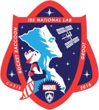 groot and rocket raccoon are the stars of this year's official space station lab patch