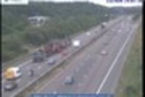 Monster lorry trundles up the M5 on six-hour journey at 10-15mph