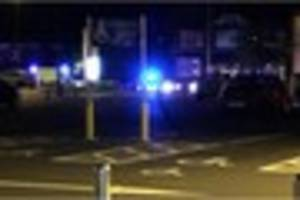 Car smashes into lamppost following two-vehicle crash in Dover