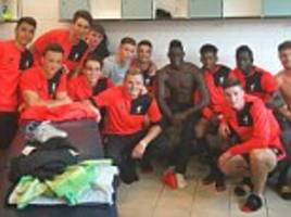 Mario Balotelli shares a changing room with Liverpool FC teenagers
