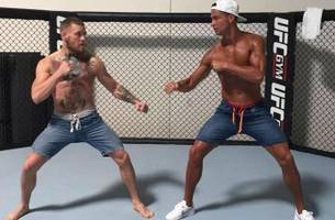 Cristiano Ronaldo steps into the Octagon with UFC champ Conor McGregor