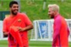see video of barcelona stars in action at st george's park