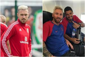 lionel messi inspired by arsenal fc and wales star aaron ramsey as he copies welshman's radical euro 2016 haircut
