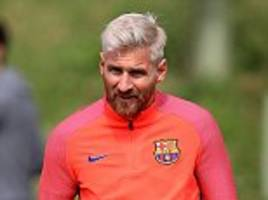 Lionel Messi and Luis Suarez inseparable during Barcelona training as Spanish side continue St George's Park pre-season camp