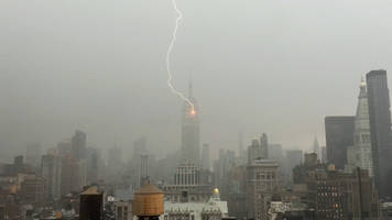 Watch: Lightning strikes Empire State Building