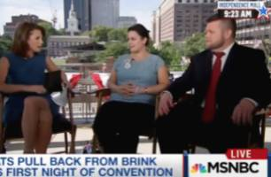 msnbc's ruhle grills sanders delegates on protests during dnc prayer: is that not 'disrespectful?'