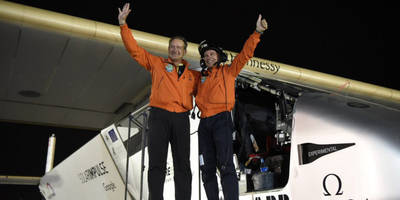 The sun-powered Solar Impulse 2 plane just completed a journey around the world