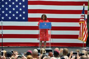 michelle obama makes the case for hillary clinton in stirring speech
