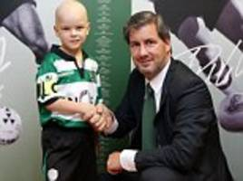 Sporting Lisbon sign young fan suffering from cancer... and then hand five-year-old Francisco a boost by allowing him to lead out the team in front of 30,000 fans