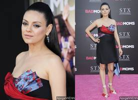 Mila Kunis Flaunts Baby Bump at 'Bad Moms' L.A. Premiere