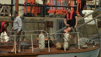 Preparations for filming of Dunkirk movie in Weymouth