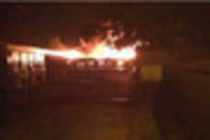 Dramatic pictures emerge showing ferocity of Bircotes school fire