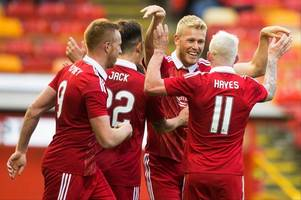aberdeen record fc: derek mcinnes should stick two up front and let maribor fear us
