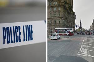 Horrified shoppers watch as man is slashed in the face in broad daylight in centre of Edinburgh