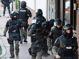 german special forces raid mosque, apartments in crackdown on salafists