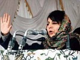 J&K Chief Minister Mehbooba Mufti warns Pakistan not to 'encourage the children of Kashmir to take up arms'