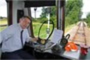 As Swanage station closed for filming, Peter takes the controls...
