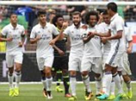 Real Madrid 3-2 Chelsea: Marcelo scores twice as Antonio Conte's men are beaten despite scoring two late goals in Ann Arbor as US tour nears its conclusion