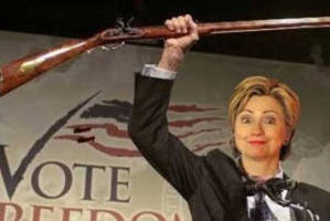 hillary promises i'm not here to take away your guns