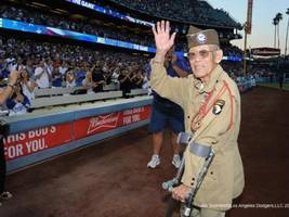 marin man, former japanese internee, honored as dodgers military hero of the game