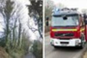 woman trapped in car after crash in brenchley