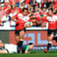 rugby: lions crush highlanders hopes