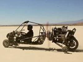 a 'mad max' flying car could be coming to a sky near you: californian engineer designs a radical vehicle for travelling by road and air