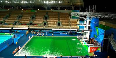 One Of The Olympic Pools Has Turned Green, And No One Seems To Know Why