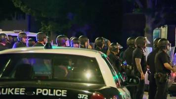 milwaukee shooting: 'shots fired' at new protests over police killing