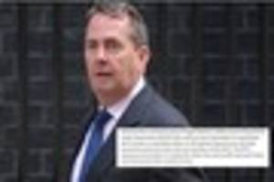 liam fox's embarrassing 'error' in admitting no brexit trade deal...