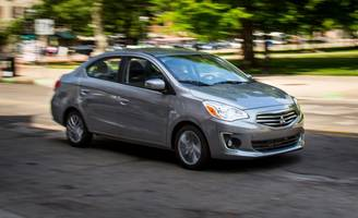 2017 mitsubishi mirage g4 automatic tested: now carrying its baggage in a trunk