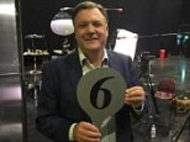 ed balls shares pictures from his first day on set of bbc's dancing reality show
